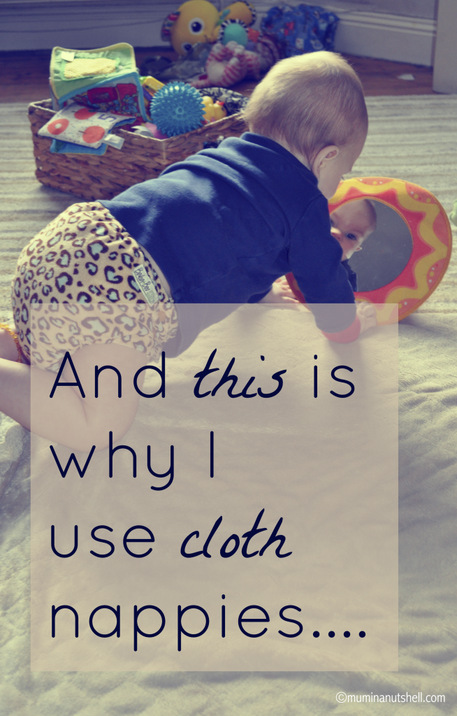 And this is how I ended up using cloth nappies….