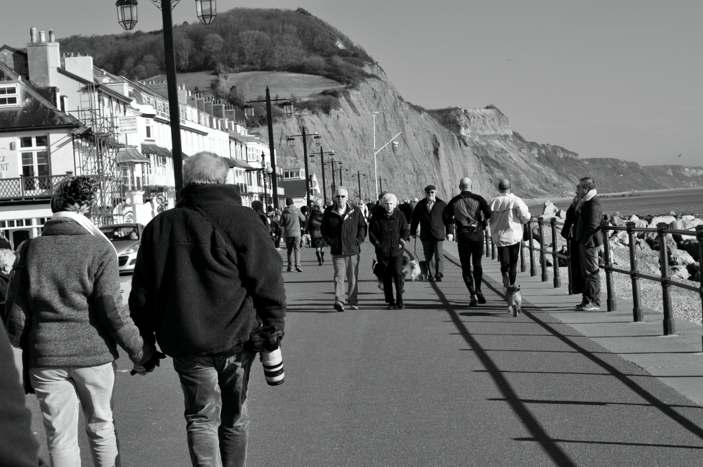 Busy sidmouth seafront on a sunny February afternoon. Our Sidmouth beach stroll by Mum in a nutshell