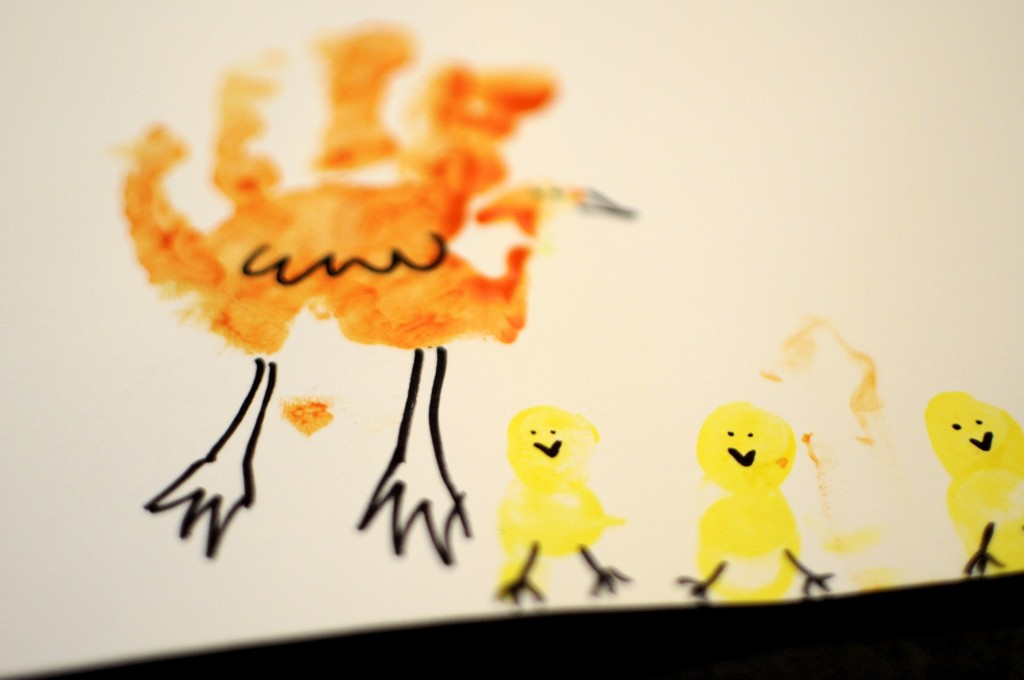Finger print chics, an Easter activity for babies and toddlers by mum in a nutshell