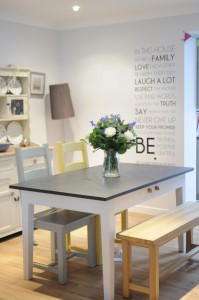 A multiuse slate top table is perfect for family life, see what uses we've discovered so far