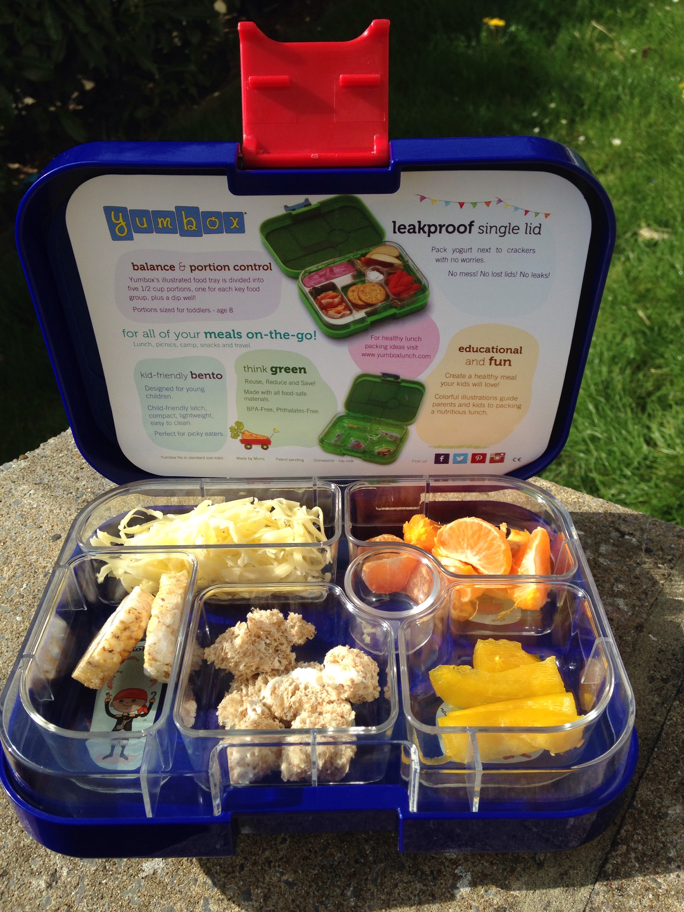 enjoying a baby led weaning lunch with our kids Yumbox by Mum in a nutshell