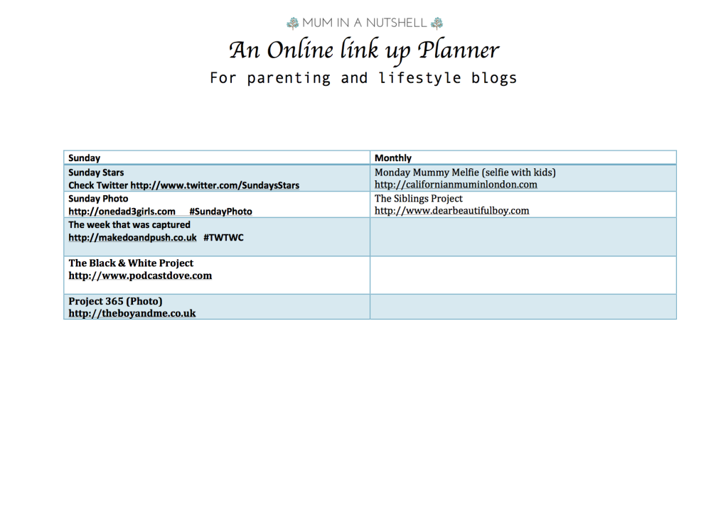 link up planner updated 3