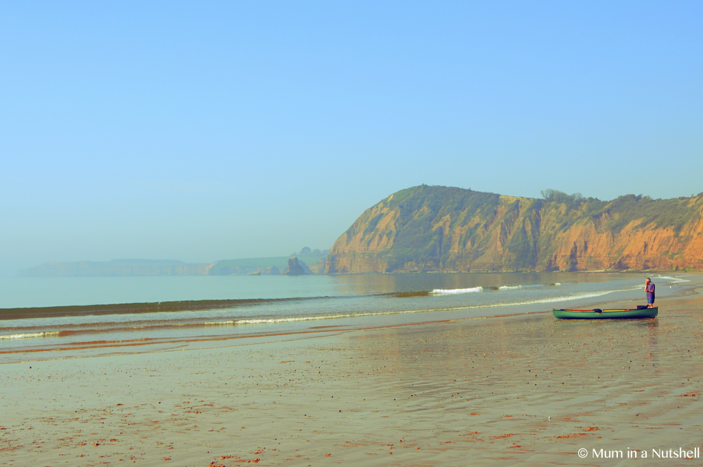 A lonely boat on a Devon beach