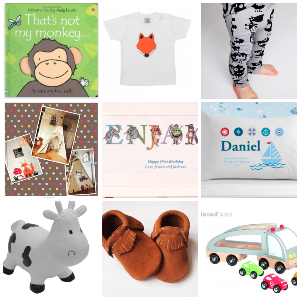 Present ideas for a baby boy's 1st birthday by parenting blog Mum in a Nutshell