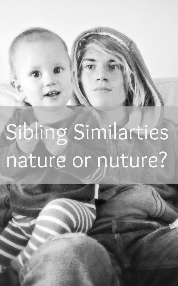Sibling similarities; Is nature or nurture?