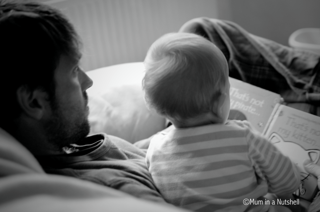 Precious time reading with your baby, it's never too early to start