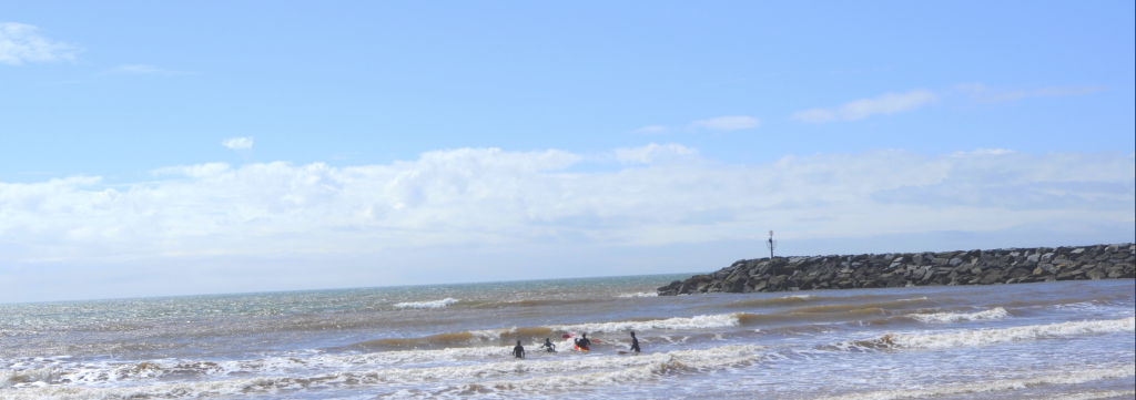 surf rollers in Sidmouth, Devon by Mum in a Nutshell