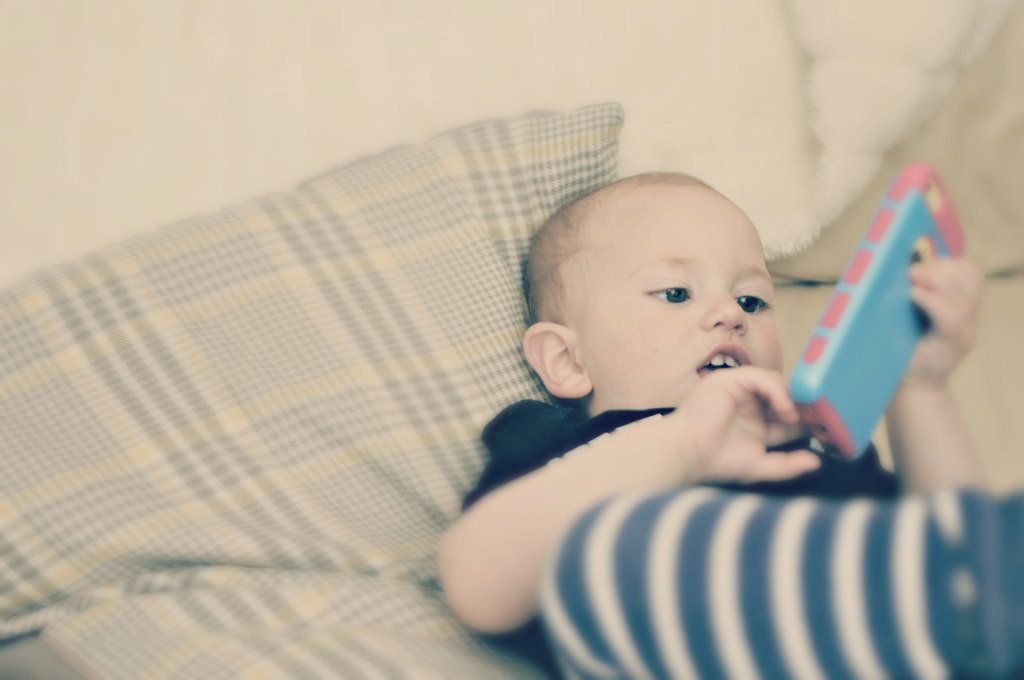 Is this a new era of technology where babies are born into a world knowing exactly what to do with an iPhone?