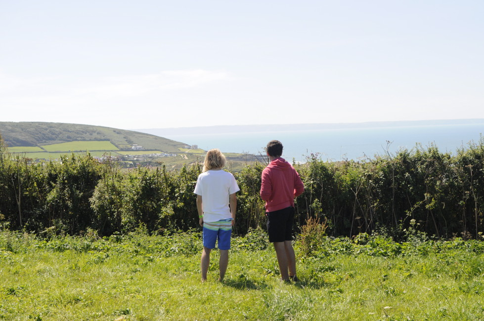 checking out the surf from Croyde View Camping