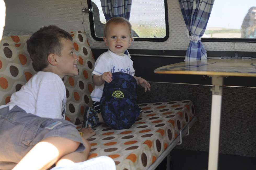 checking out the Saltrock camper van