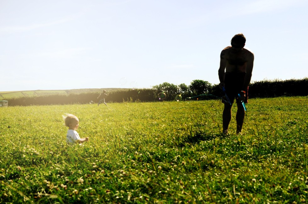 Making summertime memories with a father and son moment