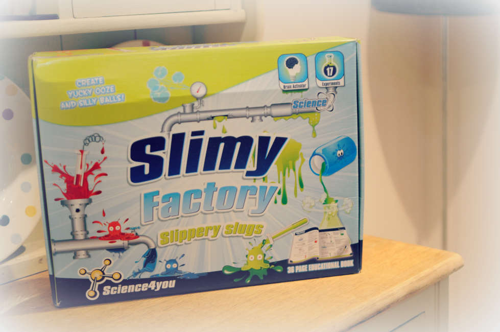 reviewing the slime factory by Science4you, a fun and educational game for children in key stage 2