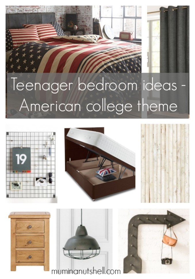 An American College Theme for a (soon to be) Teenager's Bedroom
