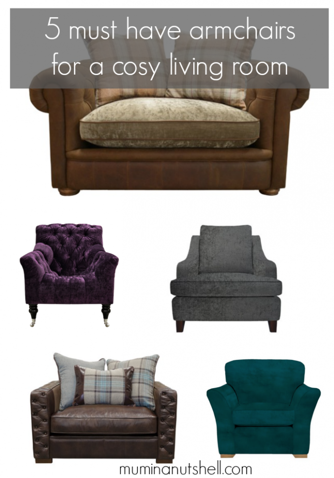 5 Must Have Armchairs For A Cosy Living Room
