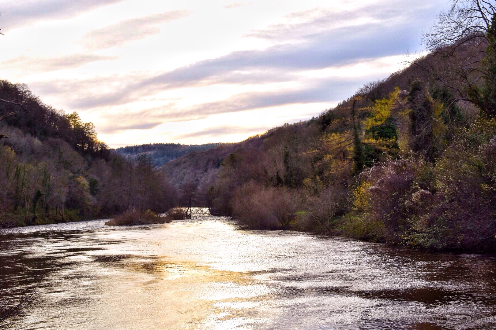 Symonds Yat in the Forest of Dean, England late Autumn.