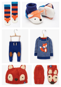 Baby Joules fox print collection