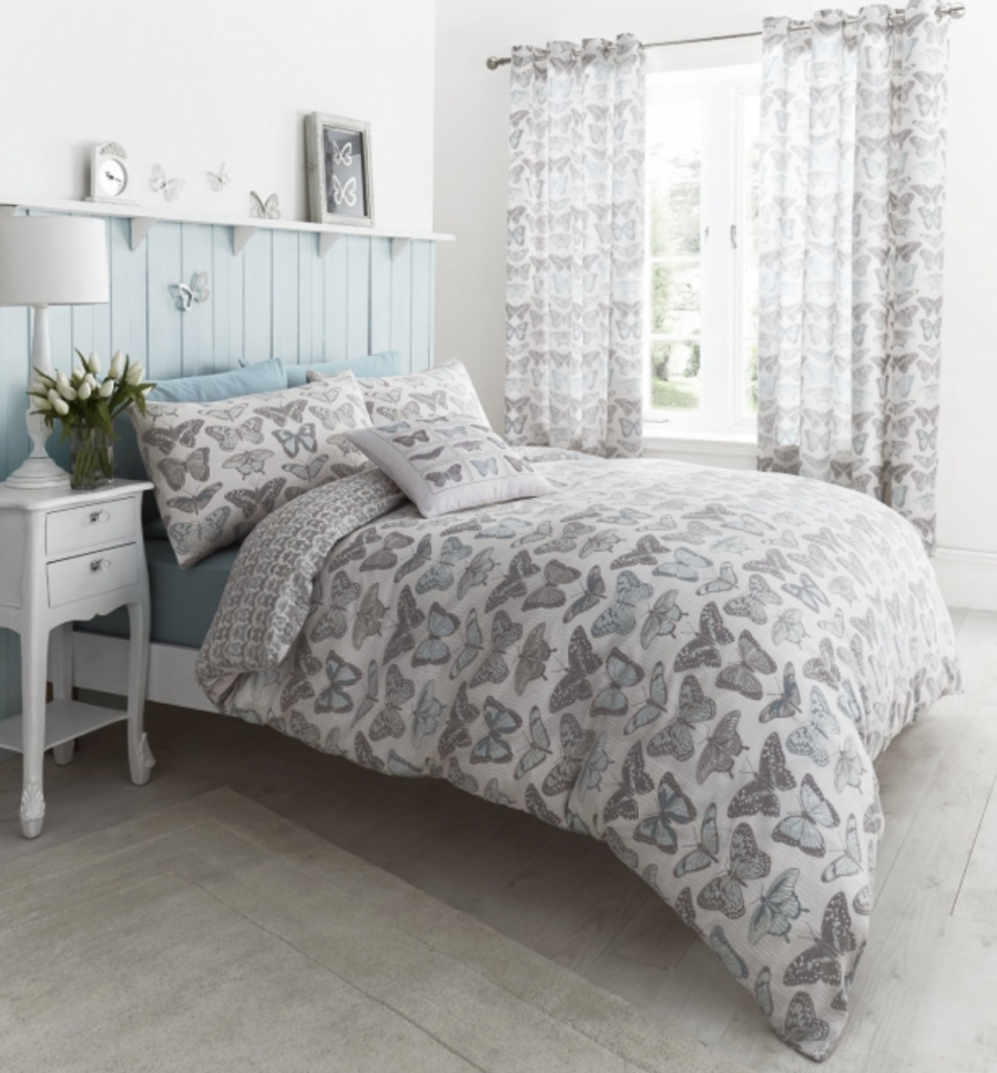 butterfly duvet set to compliment my grey decor bedroom