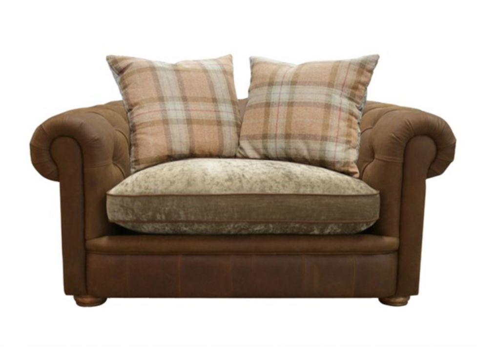 Choosing an armchair to create a cosy living room.