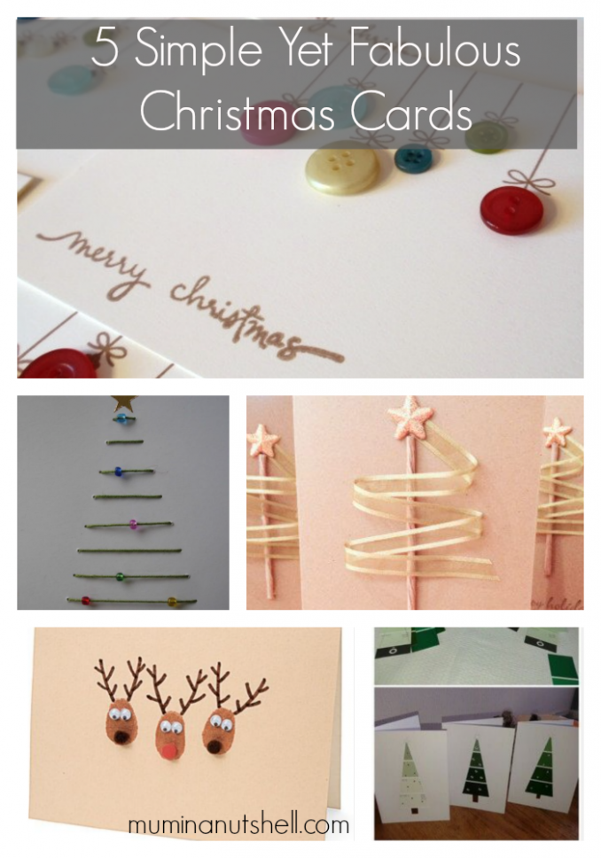 5 Simple handmade Christmas Cards