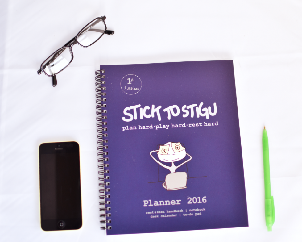 reviewing a Stigu blog planner to get my blog schedule organised