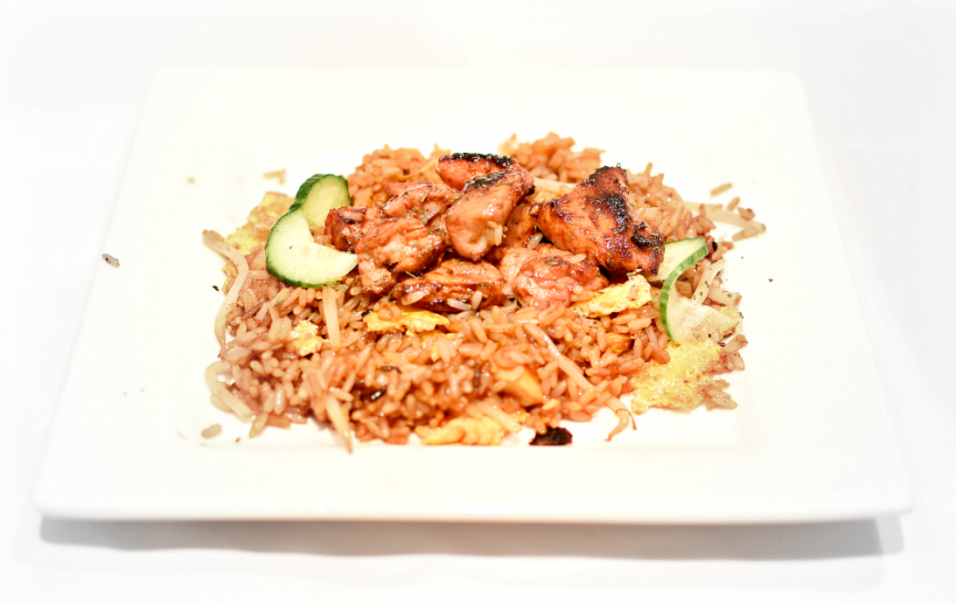 A recipe for nasi goreng rice with chinese chicken