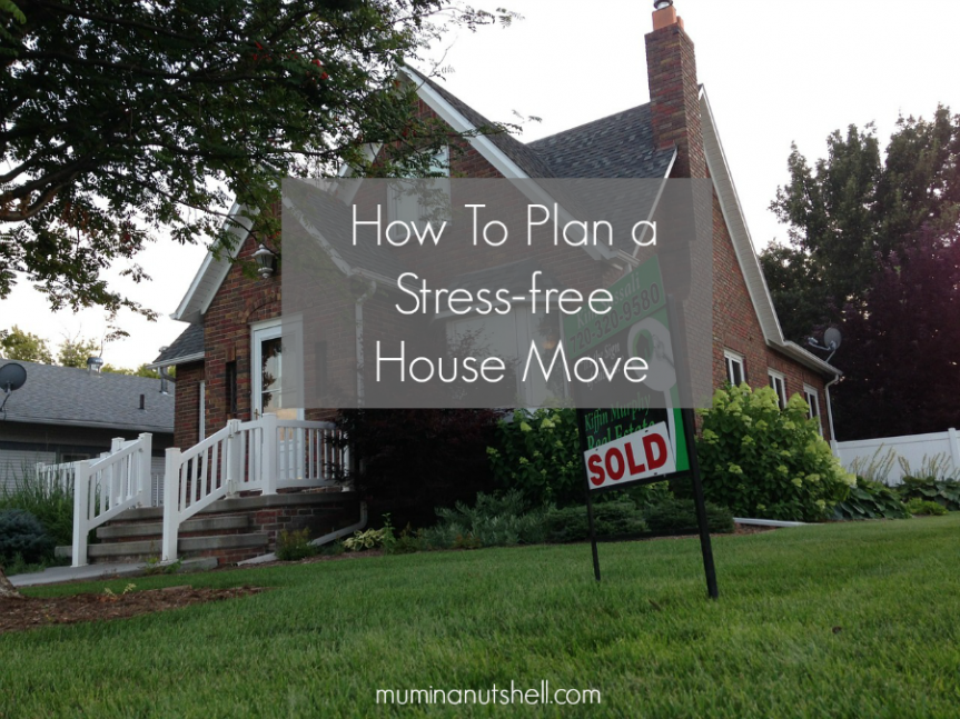 How To Plan A Stress Free House Move