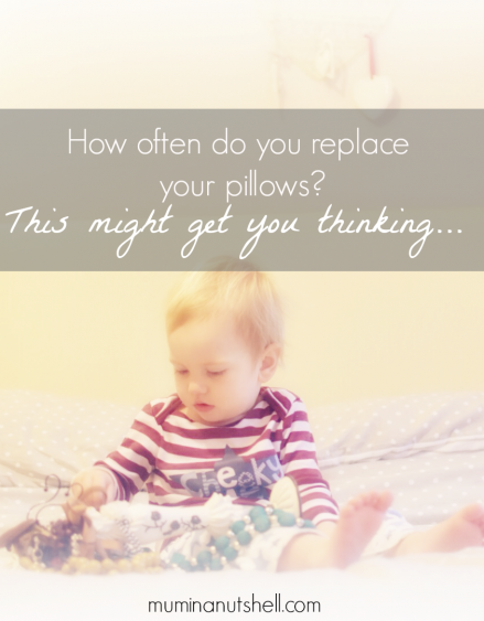 How often do you replace your pillows? Here's a little thought provoker for you;