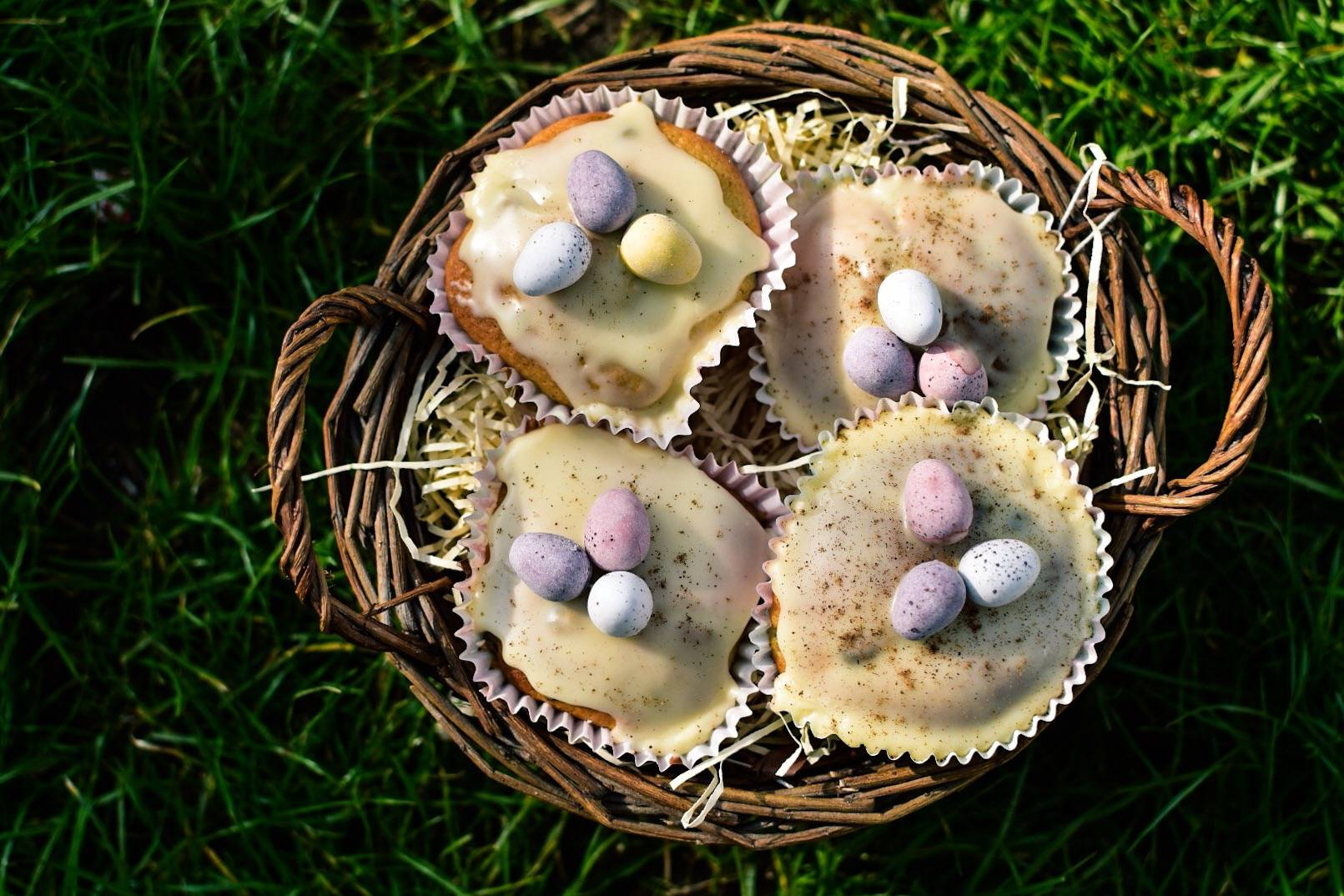 a light yet just as tasty recipe for simnel cake muffins, im making these as alternative easter gifts this year