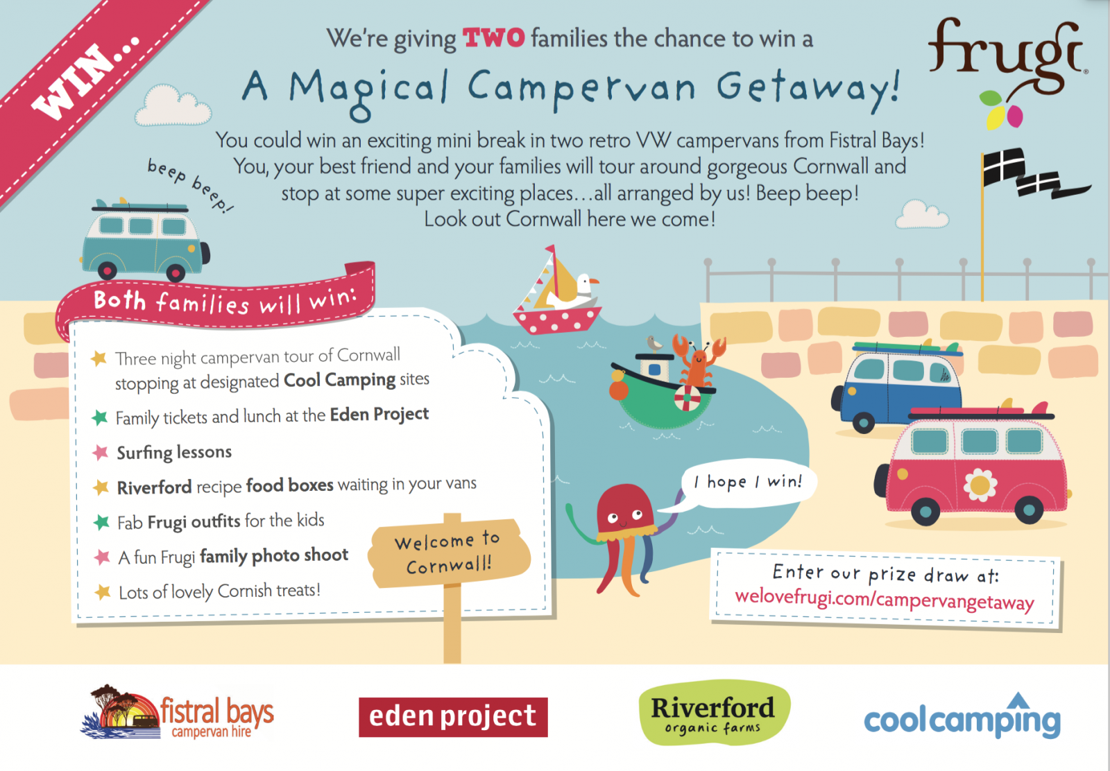 Win a camper van adventure with Frugi!