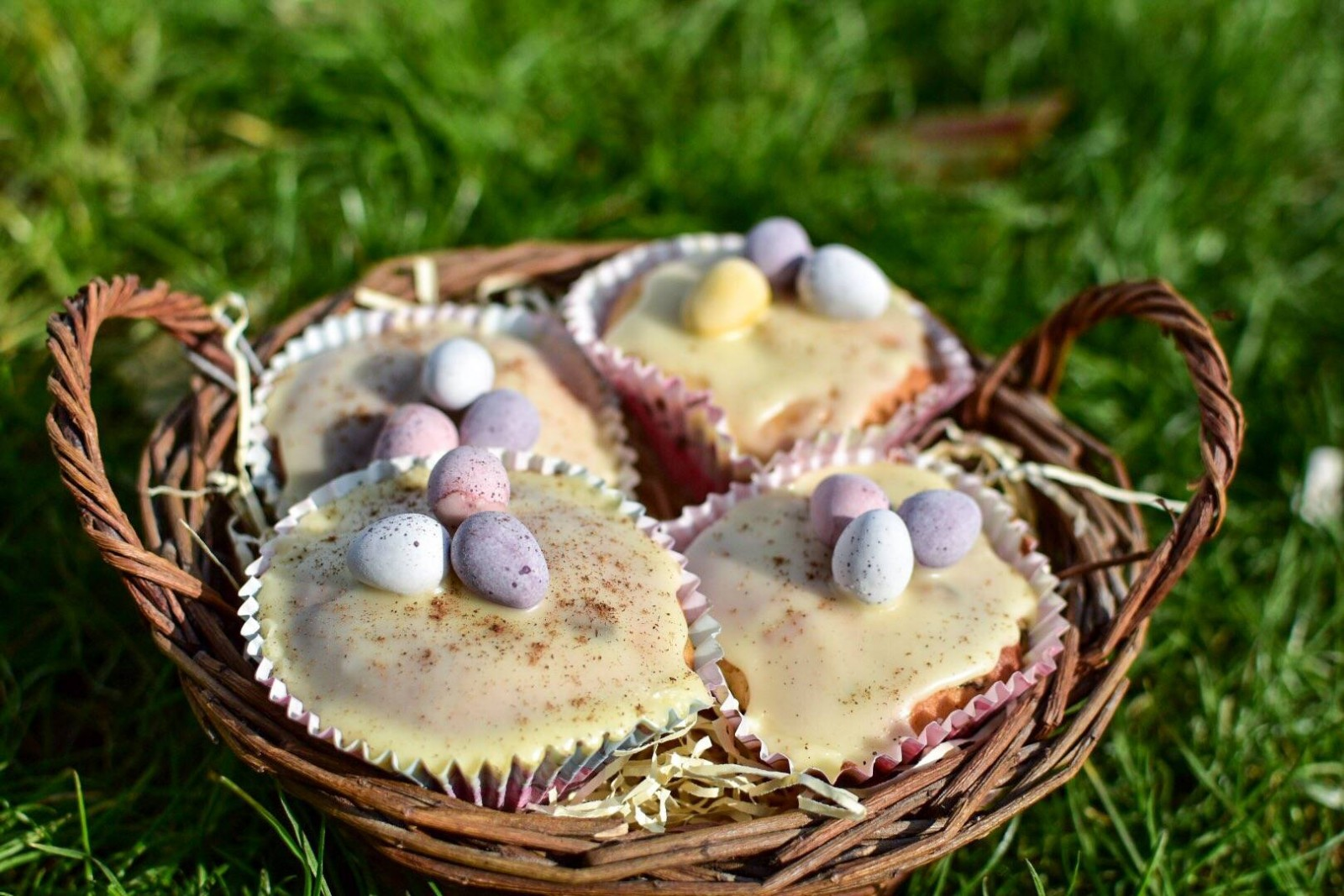 Easy Easter Simnel Cake Muffins