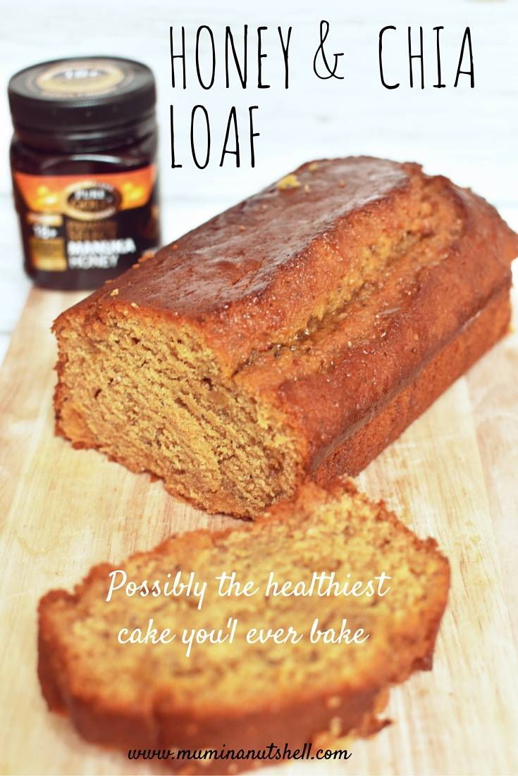 this honey and chia seed loaf cake has got to be one of the healthiest cakes you can make, this recipe uses the super food Manuka Honey as a glaze giving it extra super powers