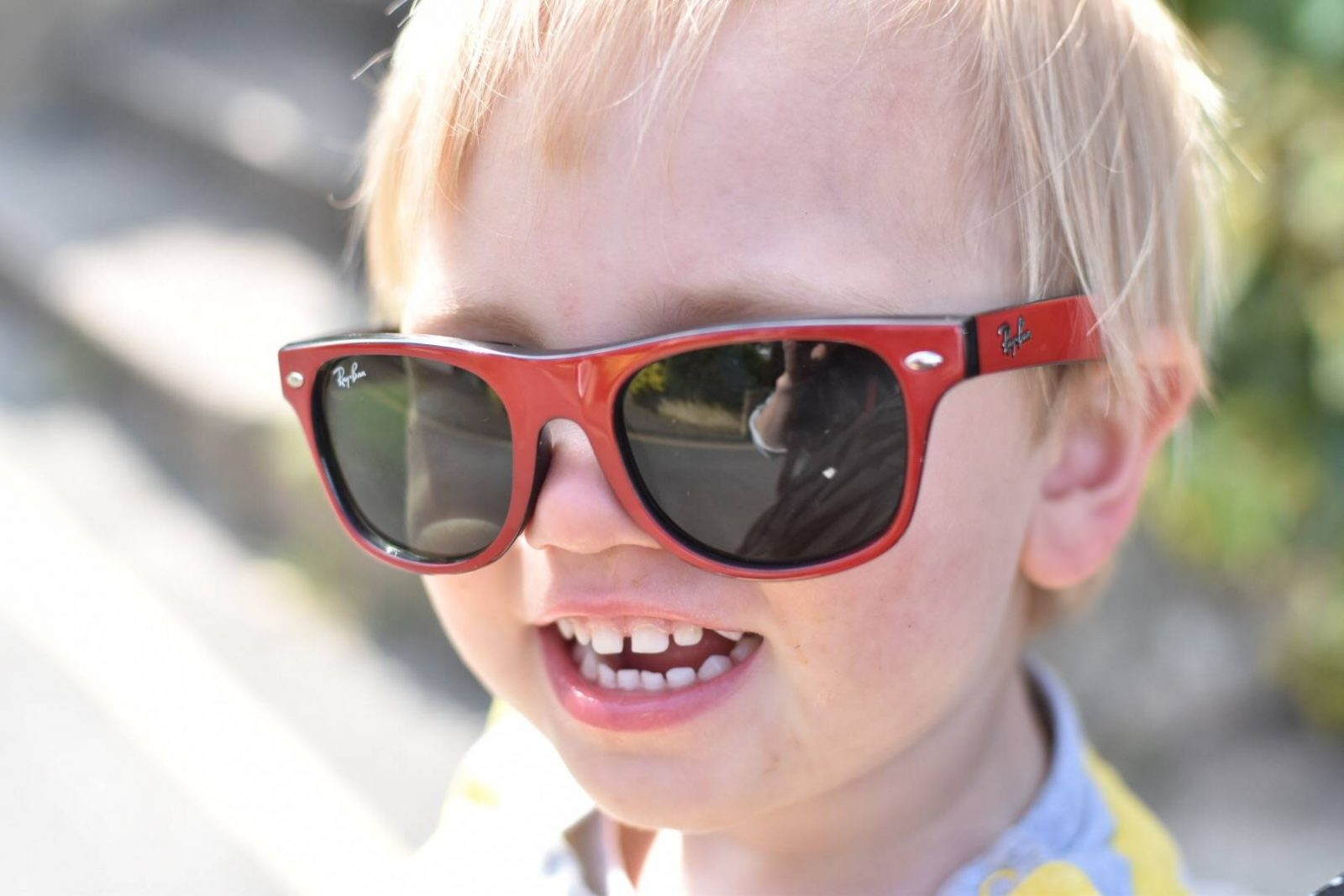 do you encourage your child to wear sunglasses? There's some iterating comments on this post about sun safety