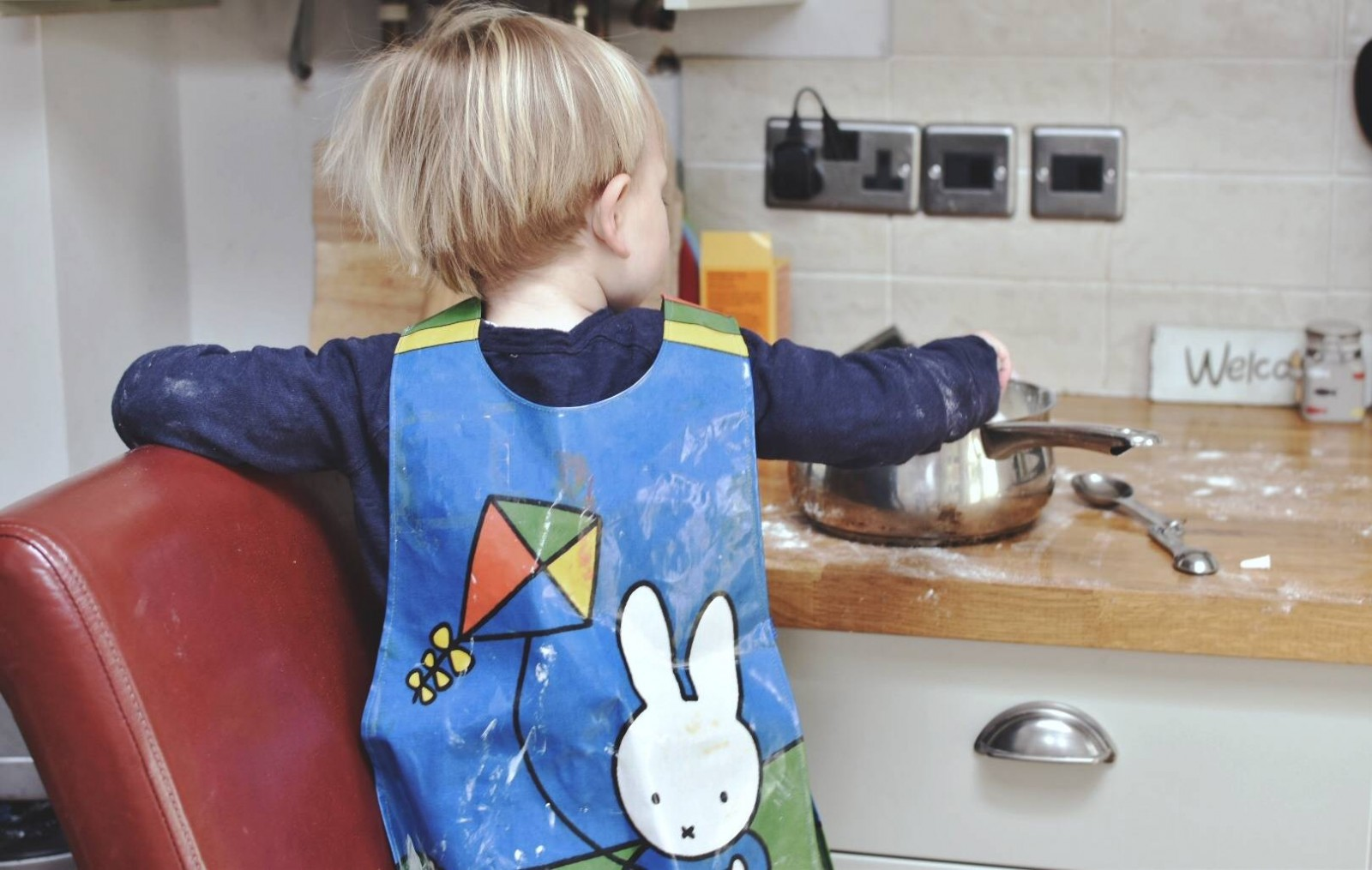 Toddlers helping in the kitchen!  Living Arrows