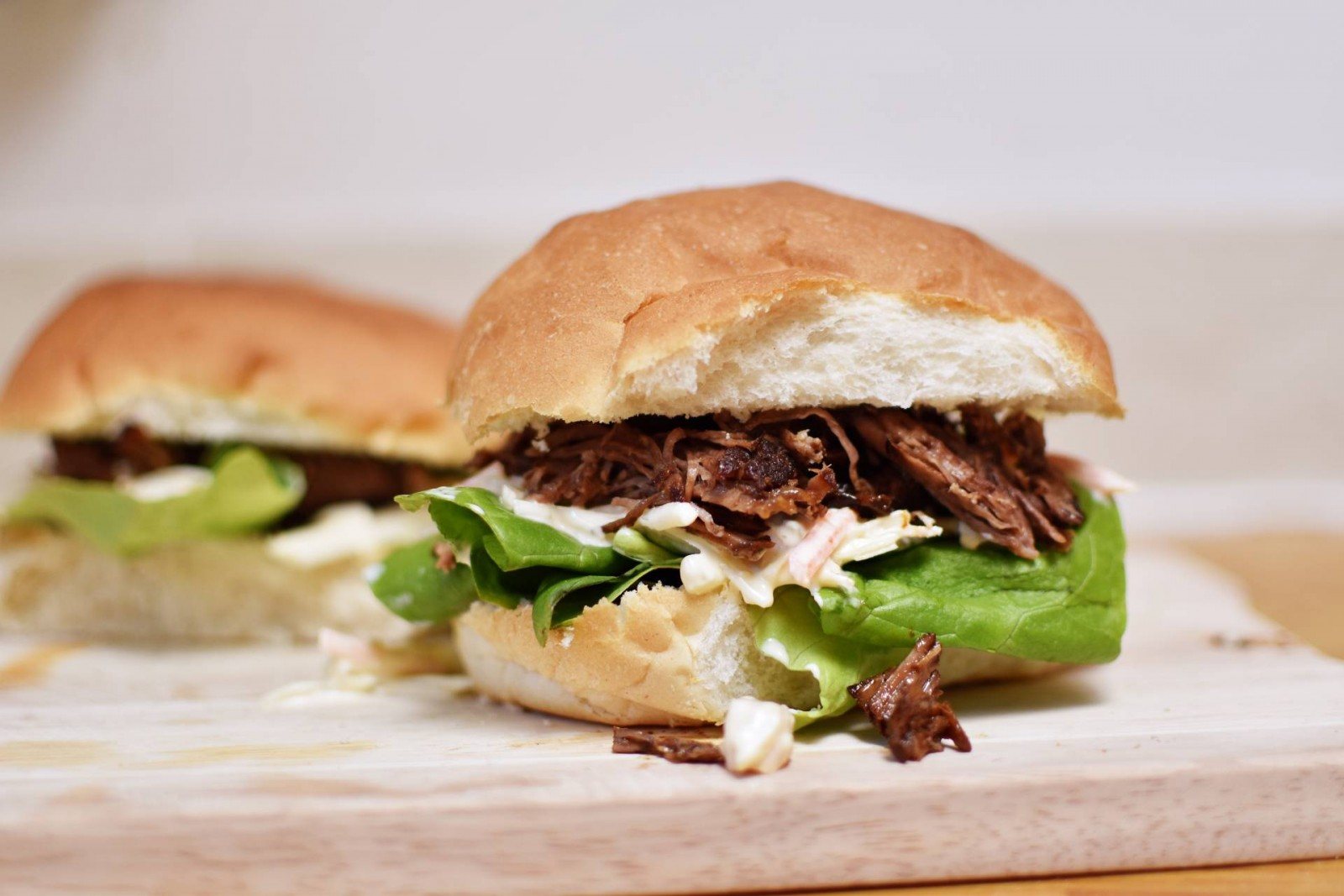One Pot Slow cooked BBQ Pulled Beef Rolls