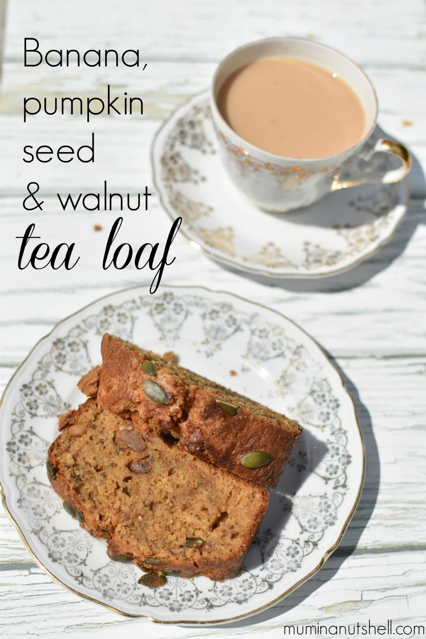 a tasty, power packed treat, this banana, pumpkin seed and walnut tea loaf is perfect for combatting exam stress and giving you an energy boost