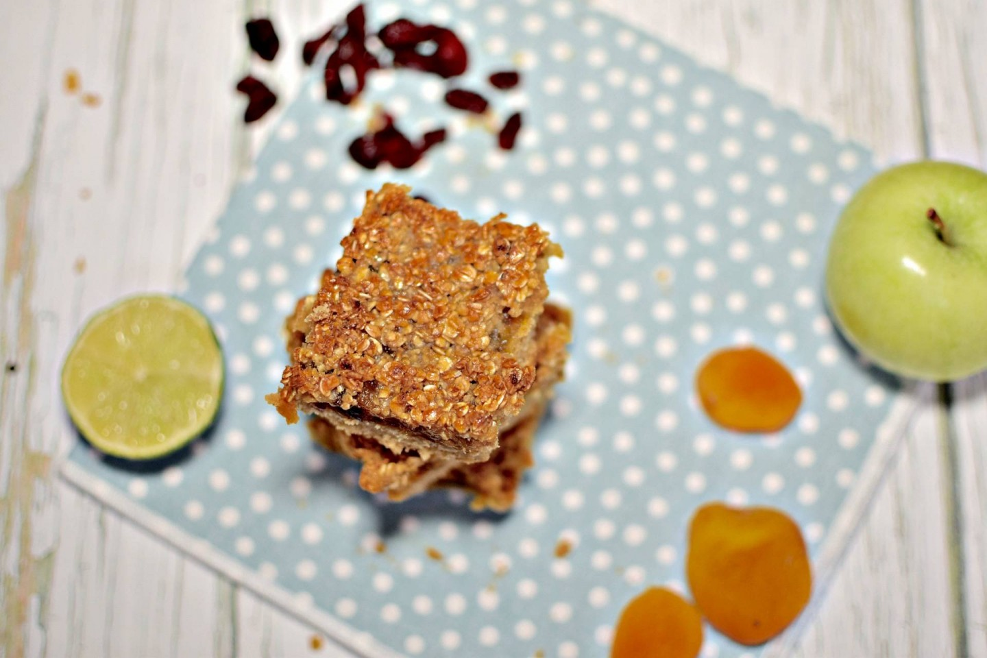 Apricot, Apple & Cranberry Oat Bars