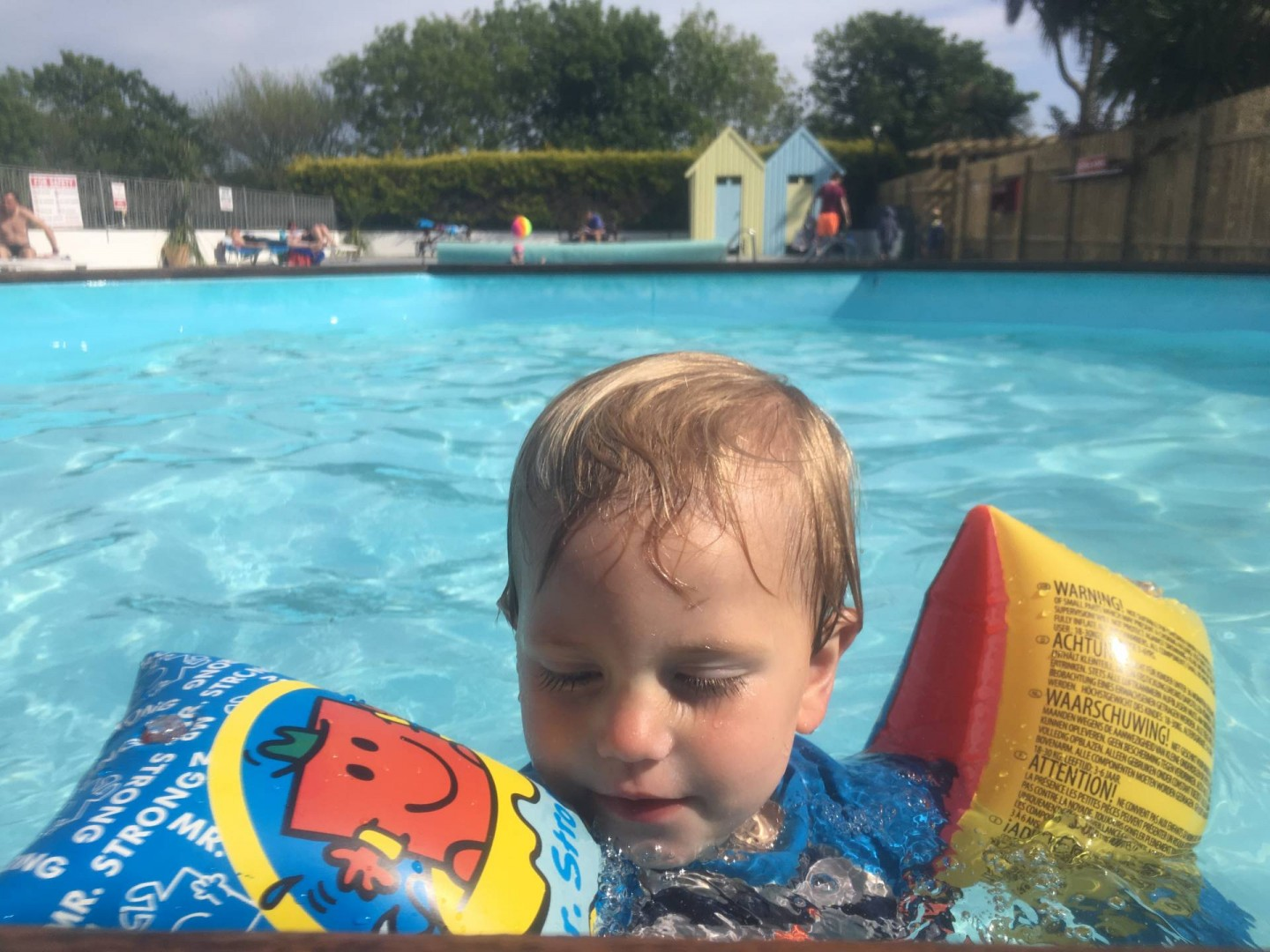 the toddler swimming pool at Trevella park is great for a warm paddle while the older kids and adults play in the larger pool