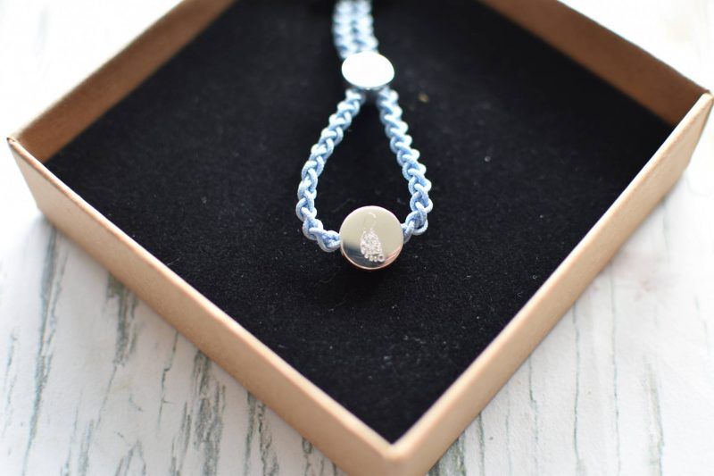 I adore these hand print and foot print jewellery from Bella & Boo, here's the finished piece.