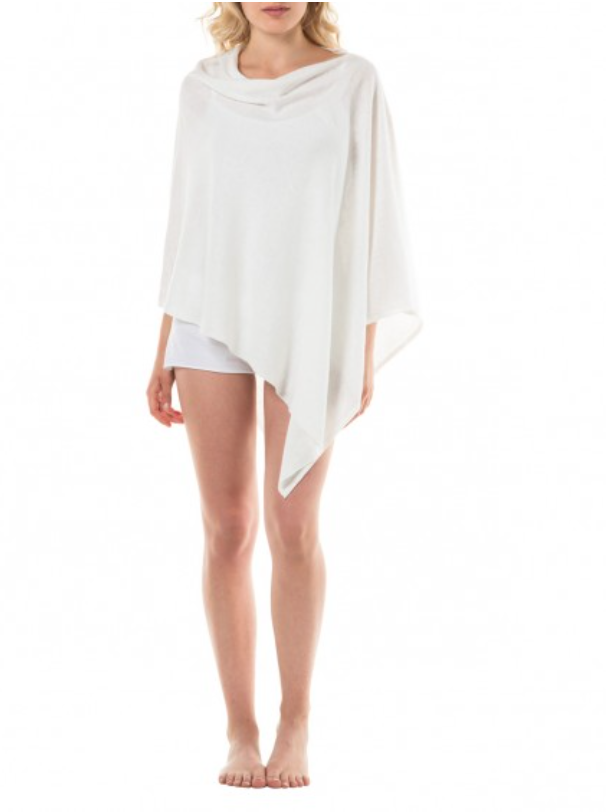 luxury linen poncho is a perfect alternative to thick dressing gowns on a summer evening