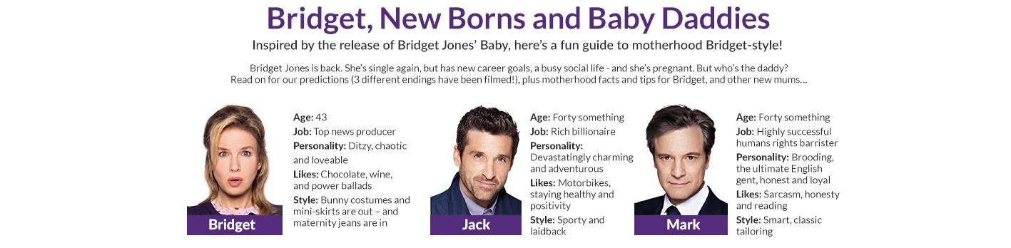 bridet jones baby and motherhood snippets of information and advice from som e UK bloggers