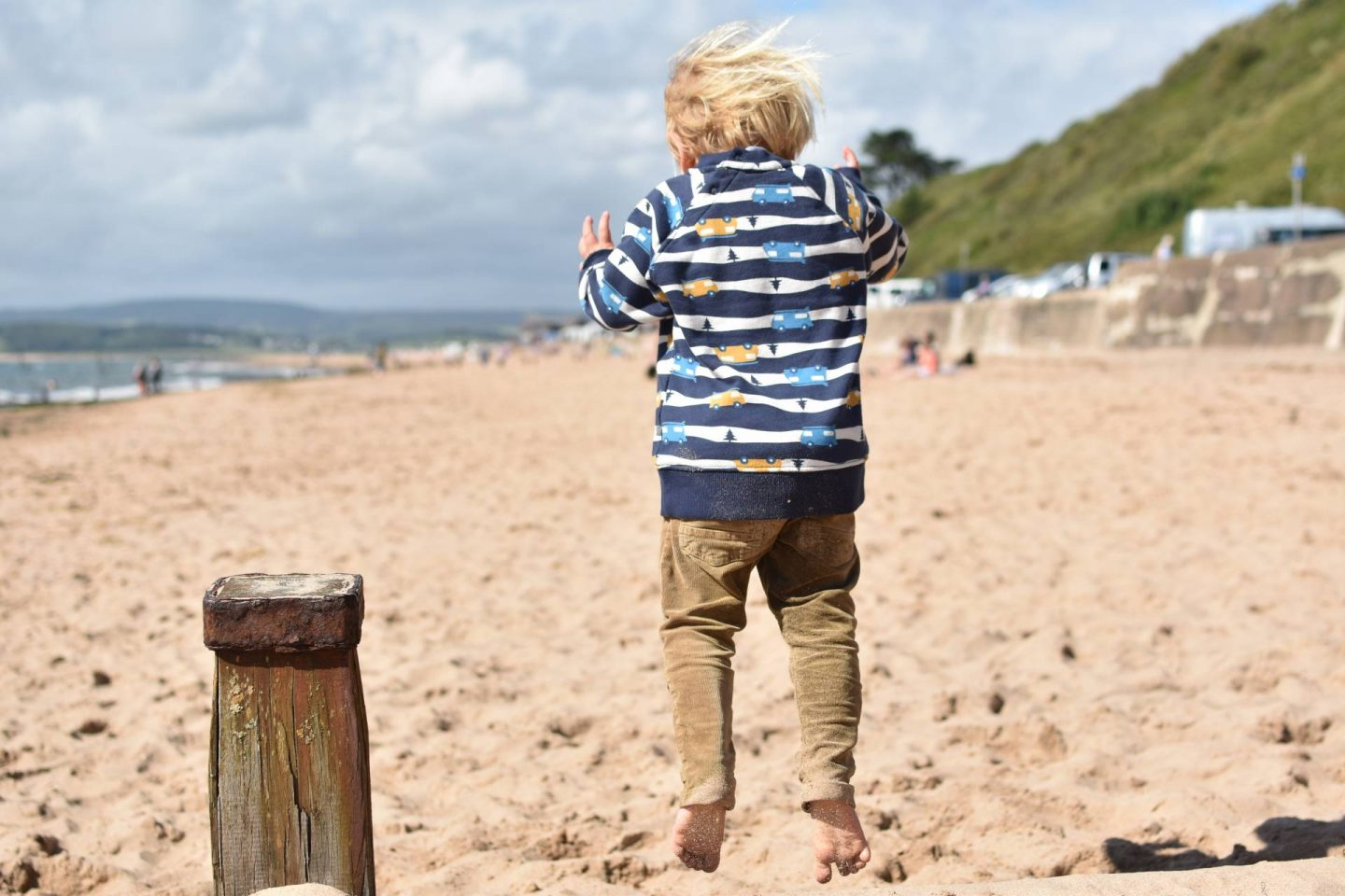 We're part of the Frugi family so showcasing this Rex boy's jumper, they're organic clothes are some of the cutest toddler fashion around.