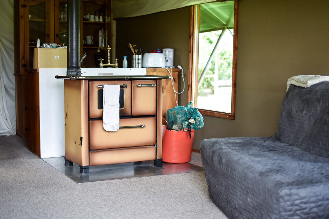 kitchen area glamping at Crealy Meadows