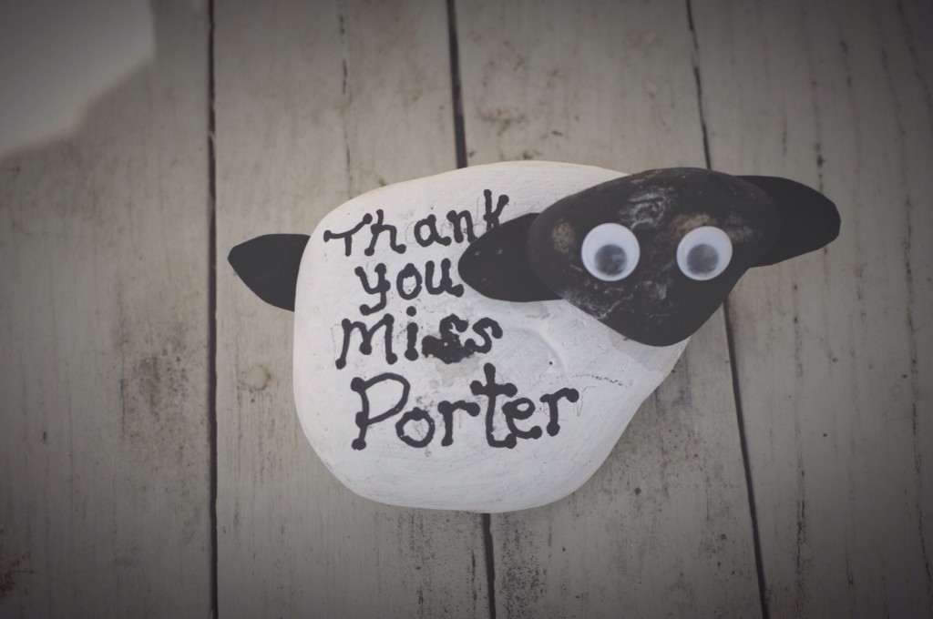 Pebble Painting Ideas A Sheep Paper Weight